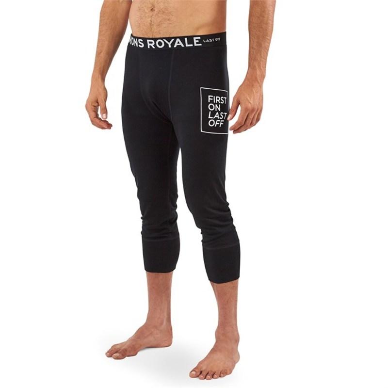 モンスロイヤル メンズ カジュアルパンツ ボトムス Shaun-Off 3/4 Leggings Black