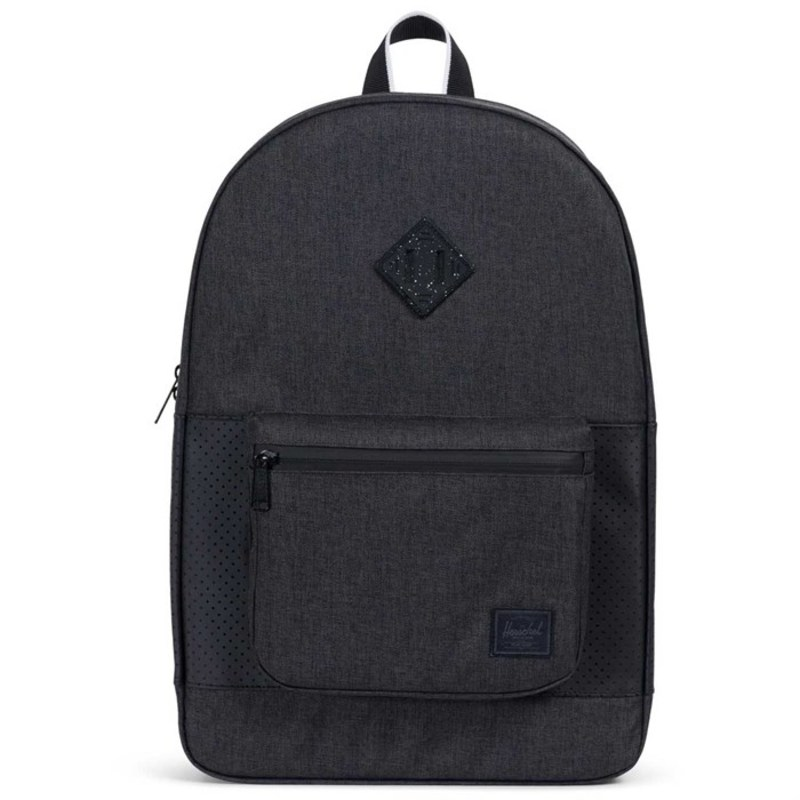 ハーシェルサプライ メンズ バックパック・リュックサック バッグ Ruskin Backpack Black Crosshatch/Black