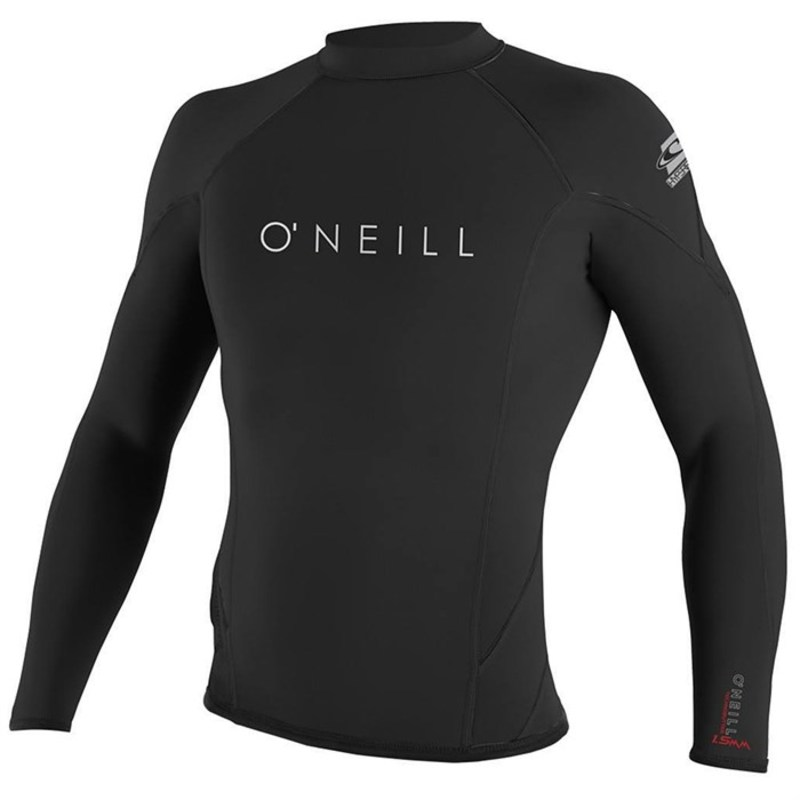オニール メンズ 上下セット 水着 1.5mm Hyperfreak Long Sleeve Wetsuit Top Black