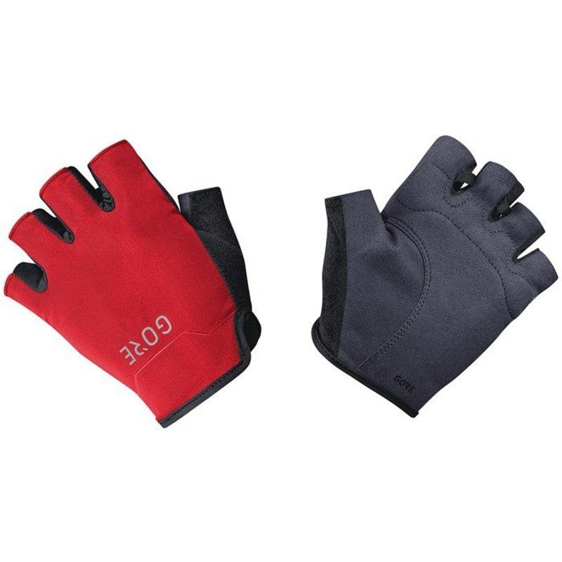 送料無料 サイズ交換無料 ゴアウェア メンズ アクセサリー 手袋 Black GORE C3 Gloves Short 受注生産品 Bike 激安通販ショッピング Wear Red