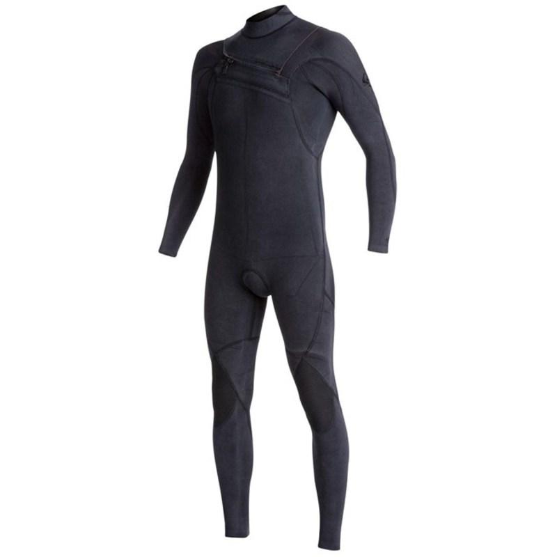 クイックシルバー メンズ 上下セット 水着 4/3 Originals Monochrome GBS Asym Chest Zip Wetsuit Black
