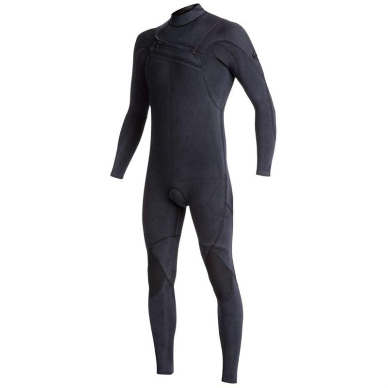 クイックシルバー メンズ 上下セット 水着 3/2 Originals Monochrome GBS Asym Chest Zip Wetsuit Black