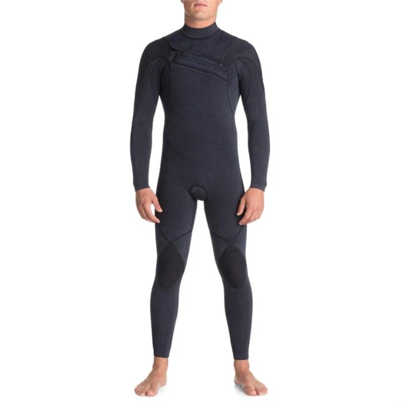 クイックシルバー メンズ 上下セット 水着 3/2 Originals Monochrome GBS Asym Chest Zip Wetsuit Navy