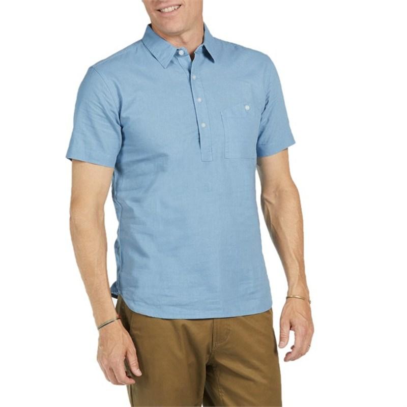 サルバドール メンズ シャツ トップス Slesinger Short-Sleeve Shirt Blue