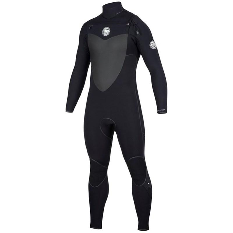 リップカール メンズ 上下セット 水着 4/3 Flashbomb Chest Zip Wetsuit Black