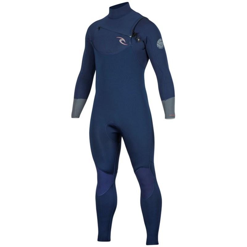 リップカール メンズ 上下セット 水着 Dawn Patrol 4/3 Chest Zip Wetsuit Navy