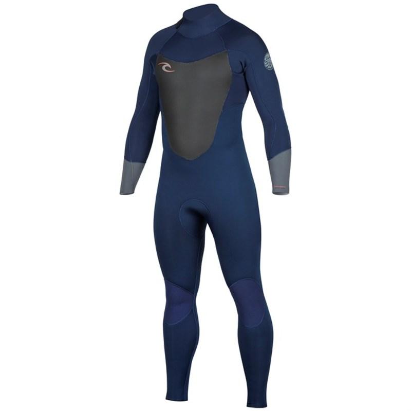 リップカール メンズ 上下セット 水着 Dawn Patrol 4/3 Back Zip Wetsuit Navy