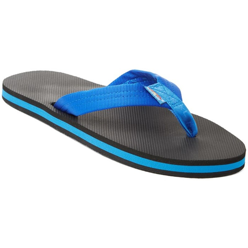 レインボー メンズ サンダル シューズ Classic Rubber - Single Layer Sandals Blue Black