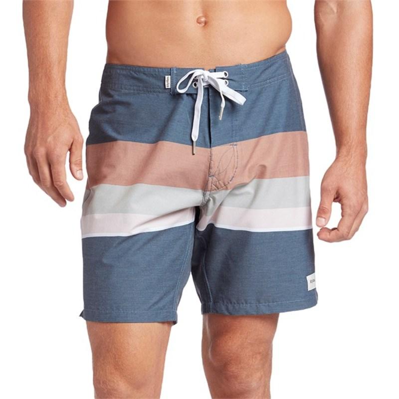 リズム メンズ ハーフパンツ・ショーツ 水着 Vintage Stripe Swim Trunks Navy