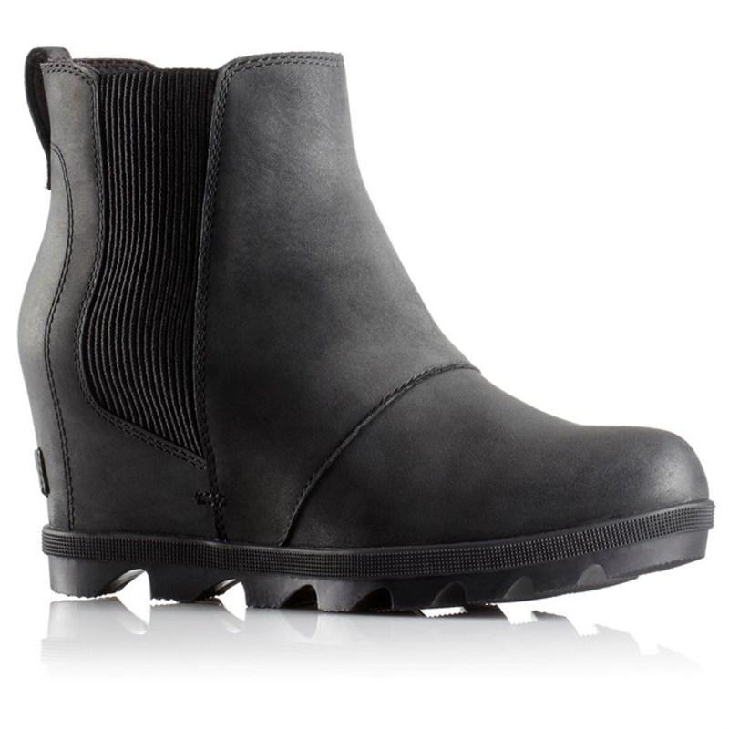 ソレル レディース ブーツ・レインブーツ シューズ Joan of Arctic Wedge II Chelsea Boots - Women's Black