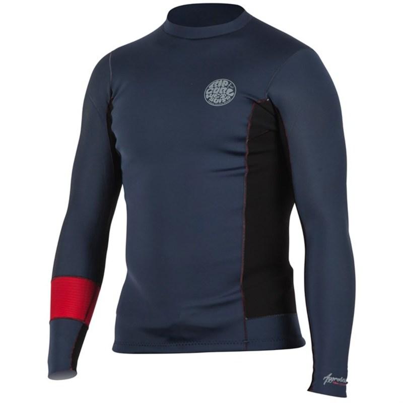 リップカール メンズ 上下セット 水着 1.5mm Aggrolite Long Sleeve Wetsuit Jacket Red