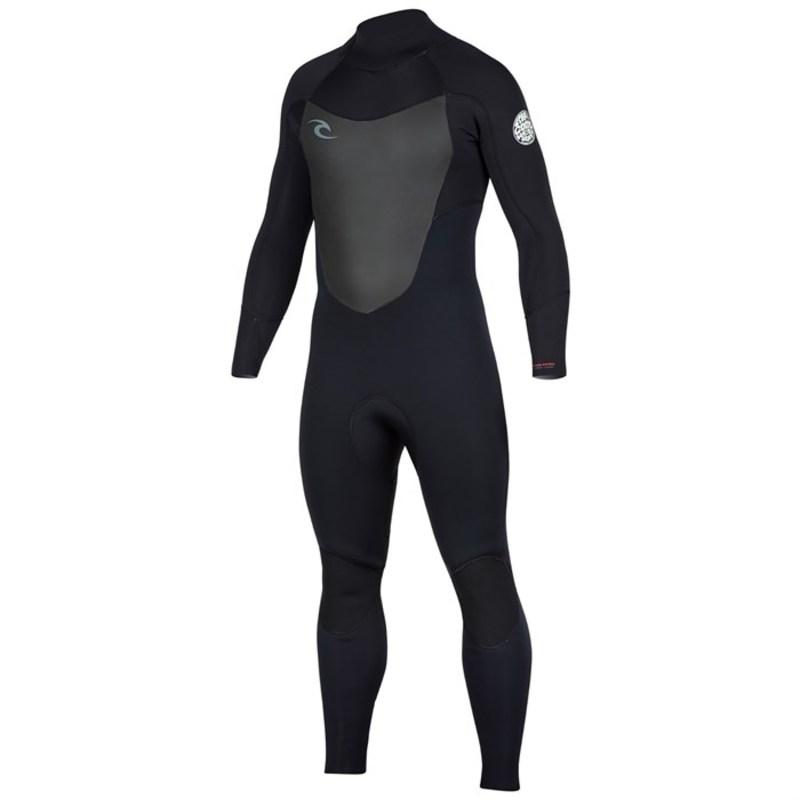 リップカール メンズ 上下セット 水着 4/3 Dawn Patrol Back Zip Wetsuit Black