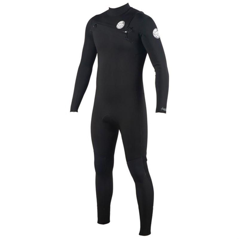 リップカール メンズ 上下セット 水着 4/3 Aggrolite Chest Zip Wetsuit Black