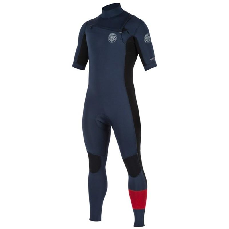 リップカール メンズ 上下セット 水着 2mm Aggrolite Short Sleeve Chest Zip Wetsuit Red