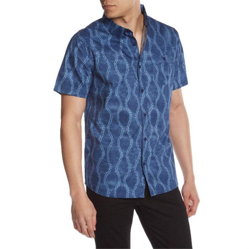 スレッズ・フォー・ソート メンズ シャツ トップス Standard Short-Sleeve Shirt Blue Batik