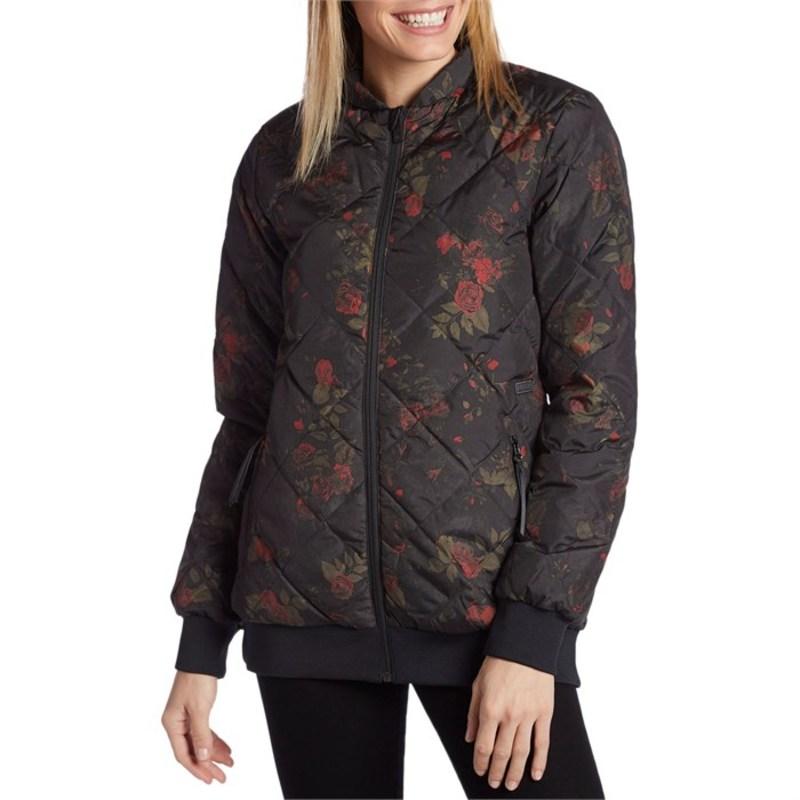 ボルコム レディース ジャケット・ブルゾン アウター Casco Down Puff Jacket - Women's Black Floral Print