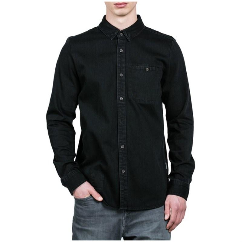 ボルコム メンズ シャツ トップス Crowley Long-Sleeve Denim Shirt Black