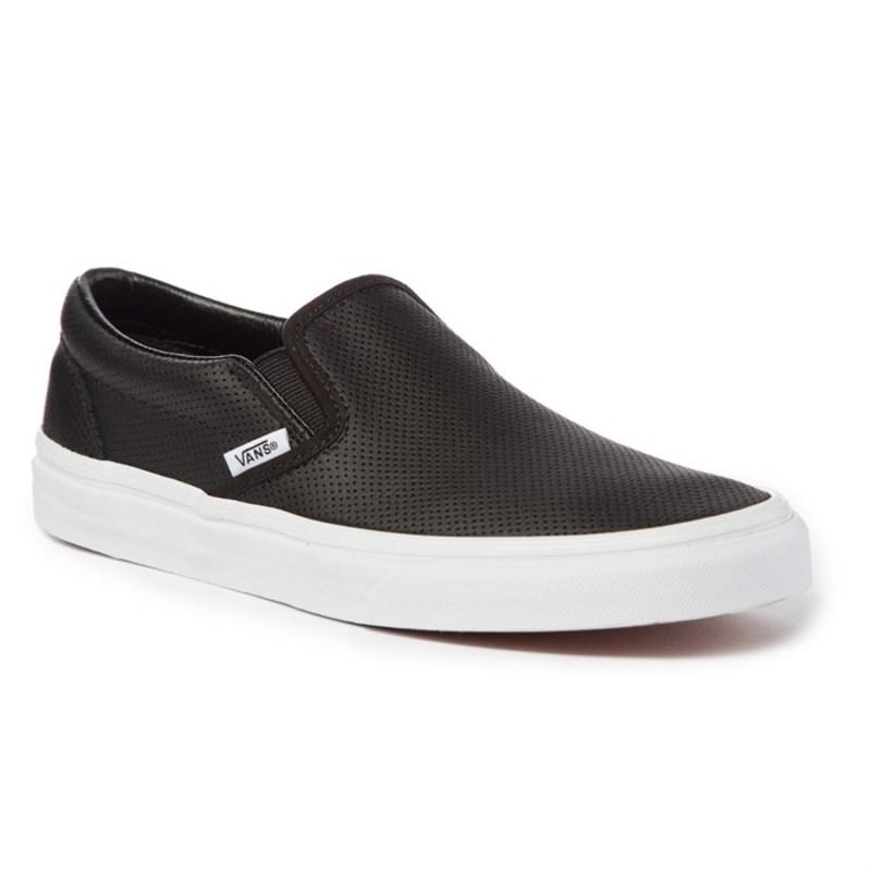 バンズ レディース スニーカー シューズ Perf Leather Slip-On Shoes - Women's Black