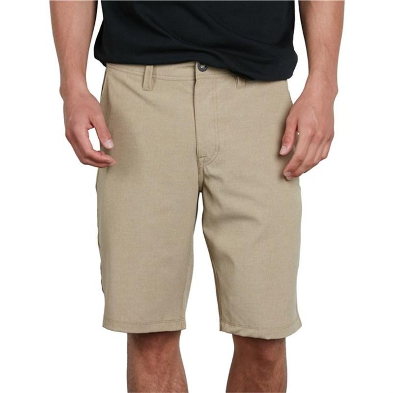 ボルコム メンズ ハーフパンツ・ショーツ ボトムス Frickin SNT Static Hybrid Shorts Dark Khaki