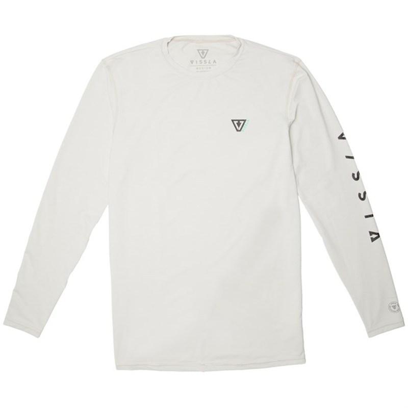 ヴィスラ メンズ トップのみ 水着 Alltime Long Sleeve Surf Shirt Vintage White Heather
