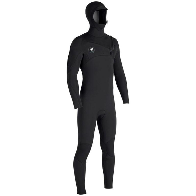 ヴィスラ メンズ 上下セット 水着 Seven Seas 4/3 Hooded Chest Zip Wetsuit Black With Jade