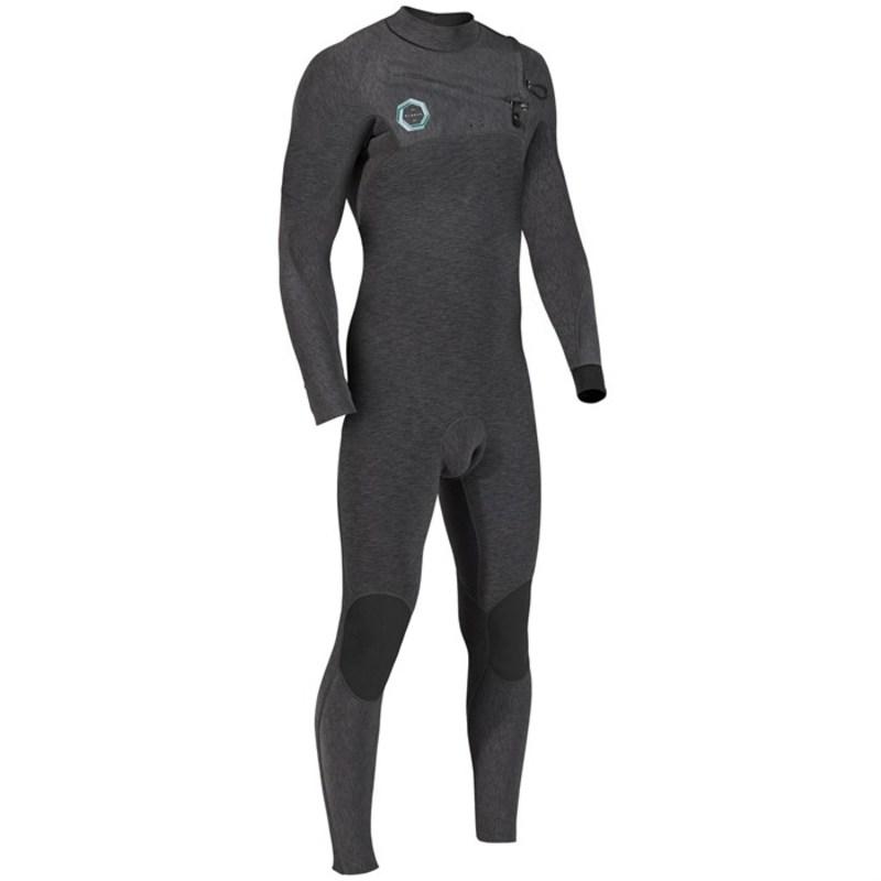 ヴィスラ メンズ 上下セット 水着 High Seas Drainer 3/2 Chest Zip Wetsuit Black Heather