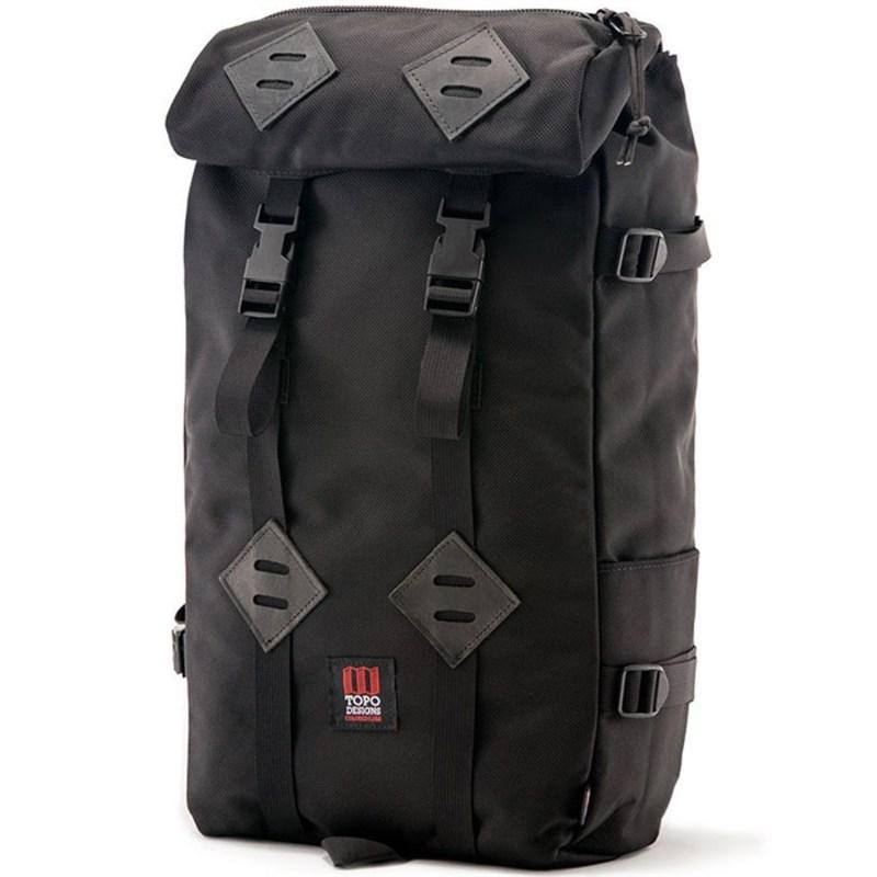 トポ・デザイン メンズ バックパック・リュックサック バッグ Klettersack 22L Backpack Ballistic Black/Black Leather