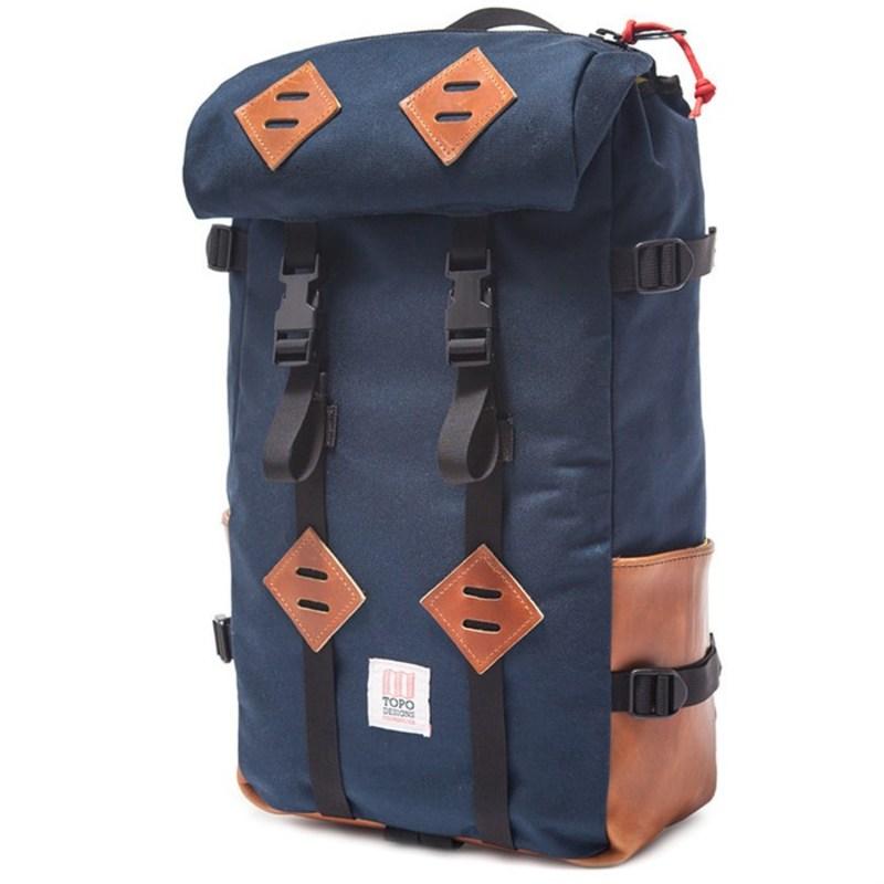 トポ・デザイン メンズ バックパック・リュックサック バッグ Klettersack 22L Backpack Navy/Leather