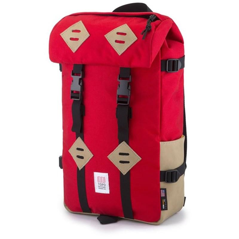 トポ・デザイン メンズ バックパック・リュックサック バッグ Klettersack 22L Backpack Red/Khaki Leather