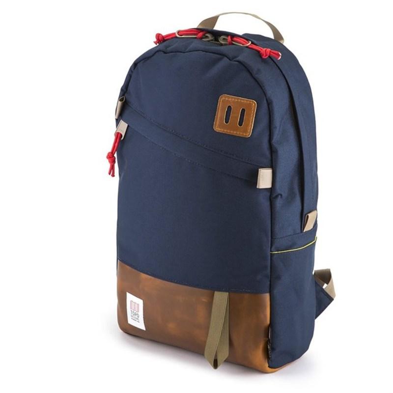トポ・デザイン メンズ バックパック・リュックサック バッグ Daypack Backpack Navy/Leather