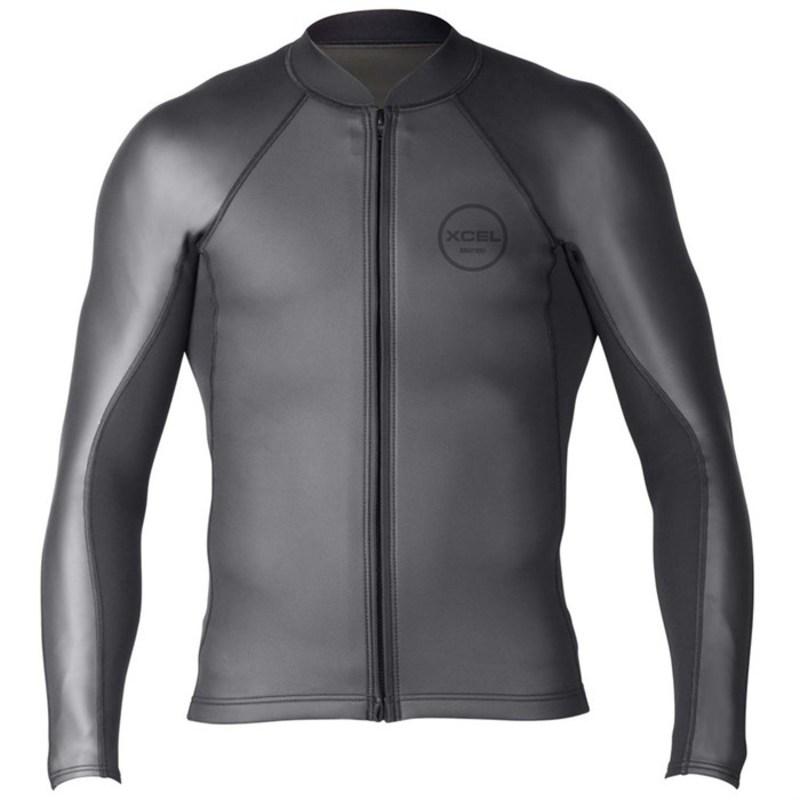 エクセル メンズ 上下セット 水着 2/1 Axis Sharkskin Front Zip Wetsuit Jacket Black