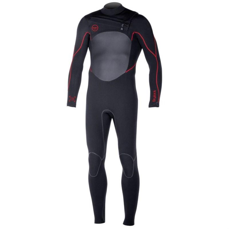 エクセル メンズ 上下セット 水着 3/2 Drylock TDC Wetsuit Black (Red Seams)