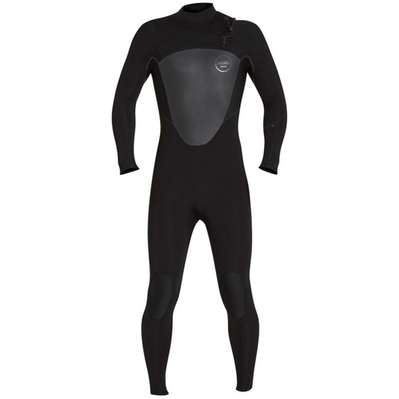 エクセル メンズ 上下セット 水着 4/3 Axis X Front Zip Wetsuit Black
