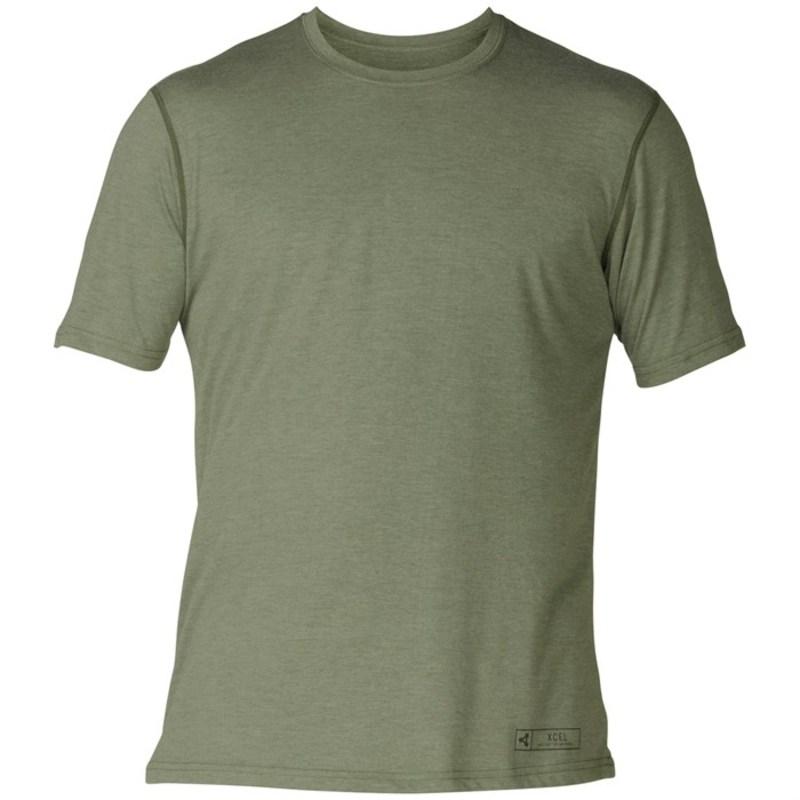 エクセル メンズ トップのみ 水着 ThreadX Solid Short Sleeve Top Burnt Olive