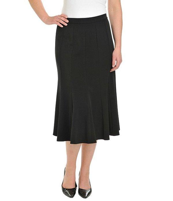 アリソン デイリー レディース スカート ボトムス Plus Size Midi Length A-Line Trumpet Skirt Black