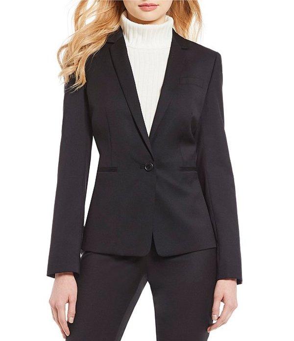 アントニオ メラーニ レディース ジャケット・ブルゾン アウター Made with Loro Piana Fabric Nicole Blazer Jacket Black