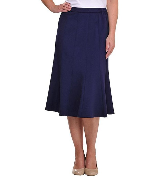 アリソン デイリー レディース スカート ボトムス Petite Size A-Line Midi Skirt True Navy