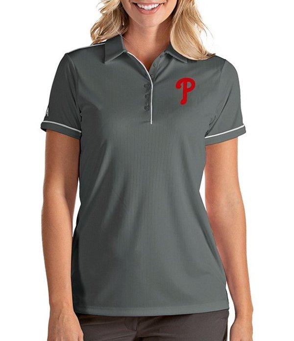 アンティグア レディース Tシャツ トップス Women's MLB Salute Short-Sleeve Polo Shirt Philadelphia Phillies White