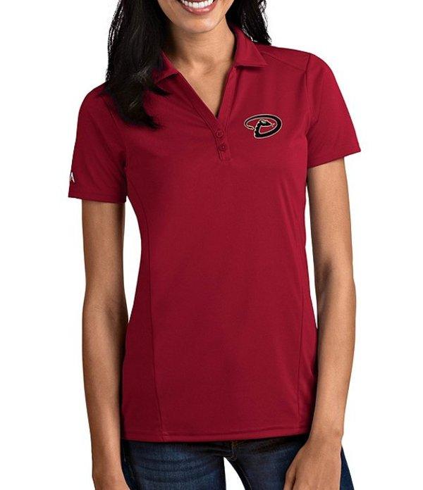 アンティグア レディース Tシャツ トップス Women's MLB Tribute Short-Sleeve Polo Shirt Arizona Diamondbacks Cardinal Red