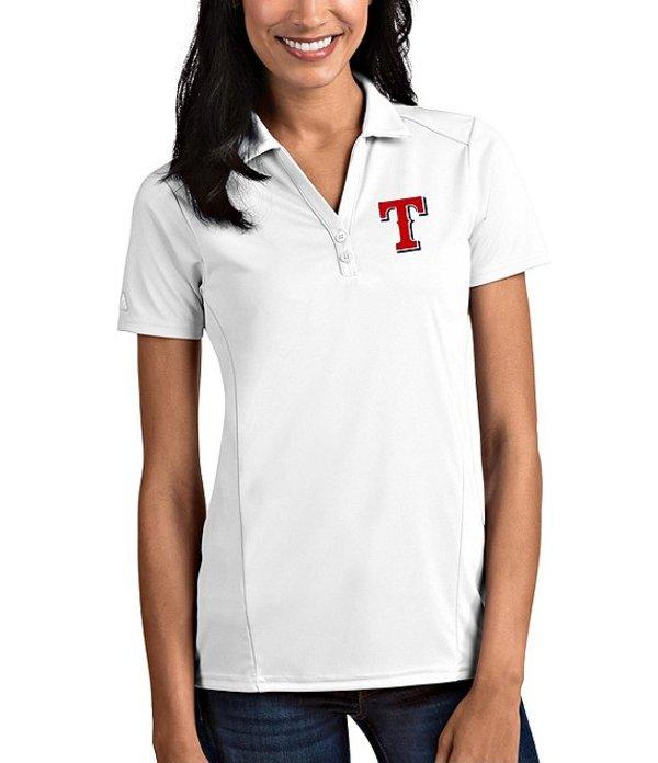 アンティグア レディース Tシャツ トップス Women's MLB Tribute Short-Sleeve Polo Shirt Texas Rangers White