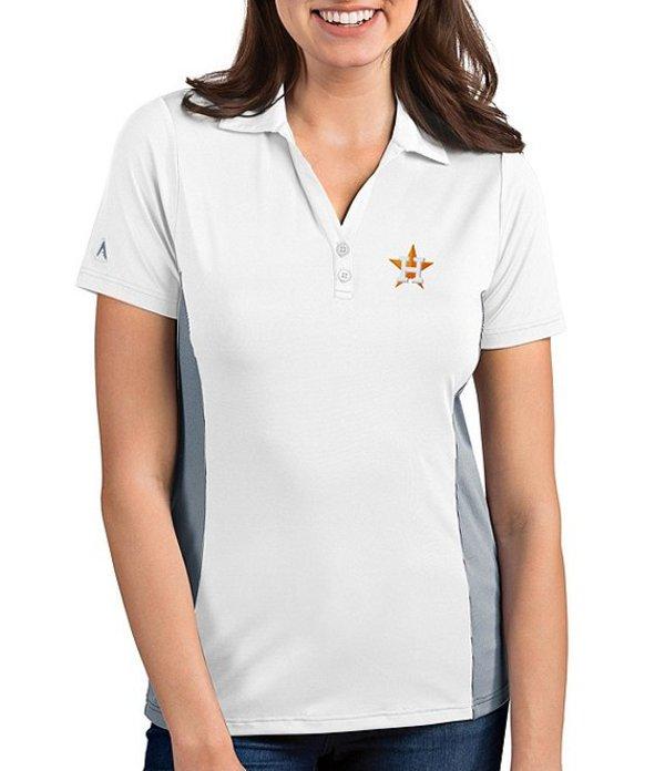 アンティグア レディース Tシャツ トップス Women's MLB Venture Short-Sleeve Polo Shirt Houston Astros Steel