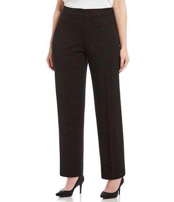 カルバンクライン レディース カジュアルパンツ ボトムス Plus Classic Fit Straight Leg Pants Black