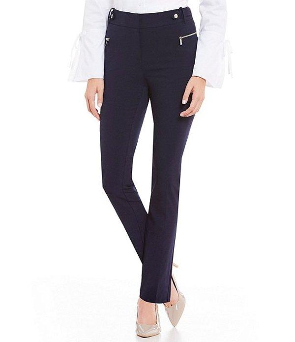 カルバンクライン レディース デニムパンツ ボトムス Luxe Stretch Side Waist Snap Tab Zip Pocket Pants Twilight Navy