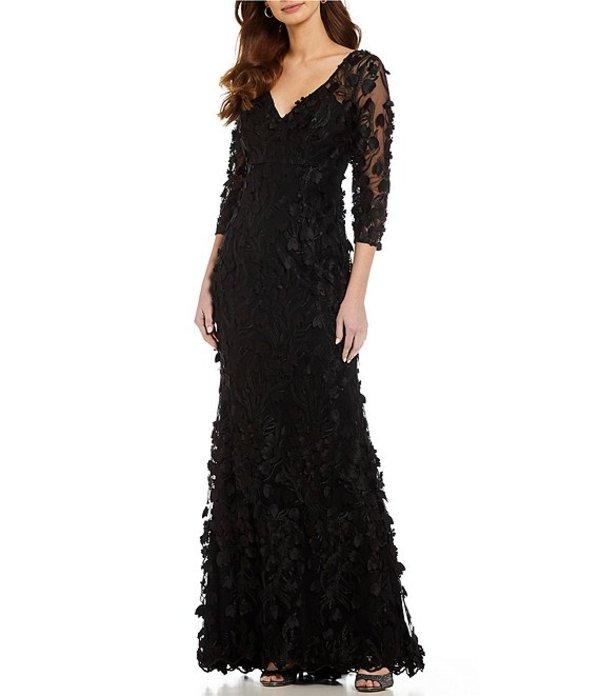 カルメンマークヴァルヴォ レディース ワンピース トップス Infusion V-Neck Fleurette Gown Black