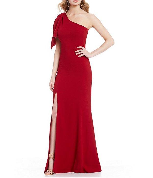 ドレスザポプレーション レディース ワンピース トップス Georgina One Shoulder Front Slit Mermaid Gown Garnet