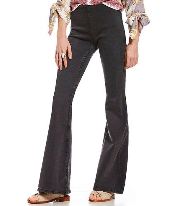 フリーピープル レディース デニムパンツ ボトムス We the Free Gummy Flared Pull-On Jeans Black