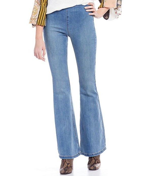 フリーピープル レディース デニムパンツ ボトムス We the Free Gummy Flared Pull-On Jeans Blue