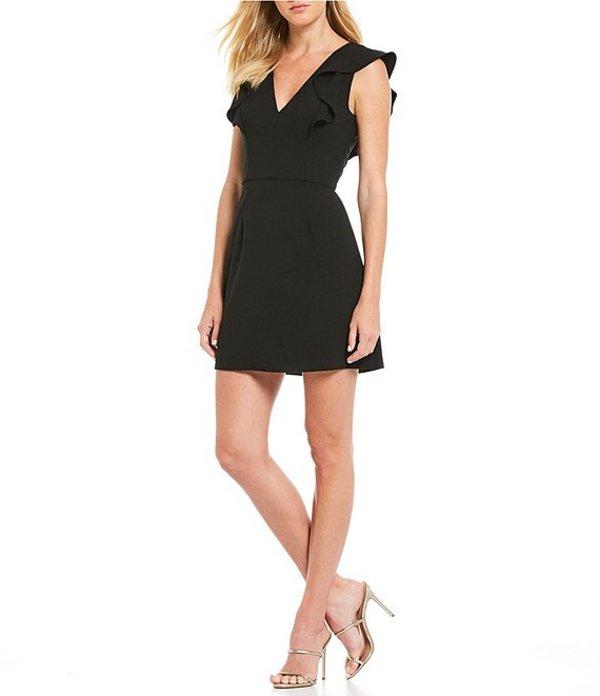 フレンチコネクション レディース ワンピース トップス Summer Whisper Ruffle Mini Sheath Dress Black