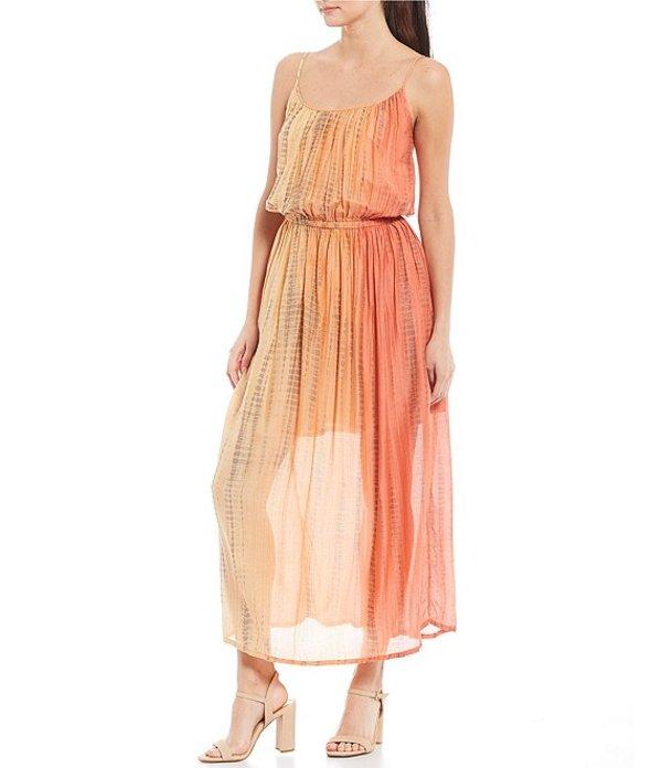 フライ レディース ワンピース トップス Shibori Print Scoop Neck Sleeveless Blouson Maxi Silk Blend Dress Summer Shibori