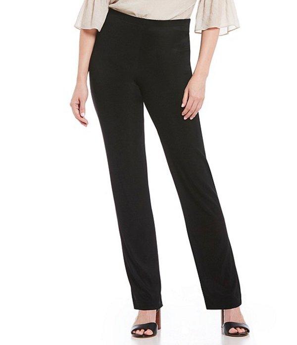アイエヌ スタジオ レディース カジュアルパンツ ボトムス Pull-On Straight Leg Ottoman Pants Black